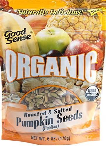 Good Sense Roasted Salted Organic Pumpkin Seeds, 6 Ounce
