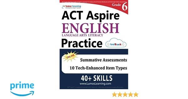 ACT Aspire Test Prep: Grade 6 English Language Arts Literacy (ELA ...
