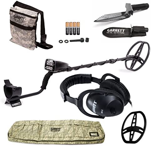 GARRETT AT PRO METAL DETECTOR W 8.5 X 11 DD COIL COVER ADVENTURE PK DVD W MUST HAVE ACCESSORIES