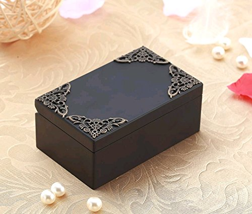 Anakin.jerry Black Vintage Rectangle Music Jewelry Box : Main Theme (Soundtrack)
