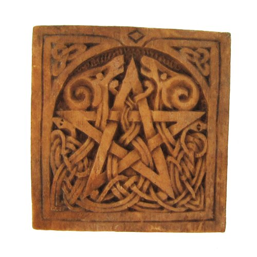 (Small Pentacle Plaque Wood Finish )
