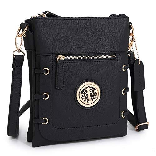 Women Small Crossbody Purse Ladies Lightweight Multi Pockets Zippers Shoulder Bag