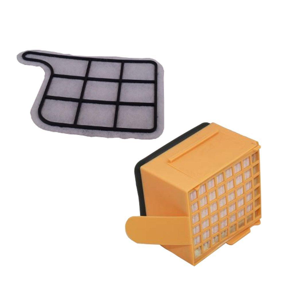 1 Microfiltro Higiénico + 1 Filtro de Proteccion del Motor para Kobold VK135/ 136 Bosaca 12581138