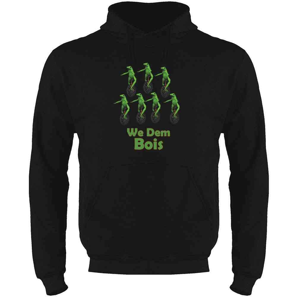 Pop Threads We Dem Bois Meme Mens Fleece Hoodie Sweatshirt