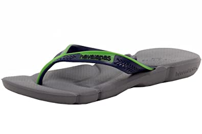 Havaianas Mens Power Fashion Grey/Navy Flip Flops Sandals Shoes Sz: 7.5/8.5