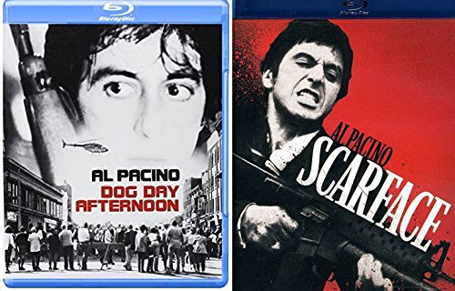 Al Pacino Classics Dog Day Afternoon & Scarface Tony Montana Blu Ray Bundle