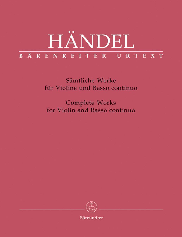 Sämtliche Werke für Violine und Basso continuo. Partitur mit Stimmen, Urtextausgabe