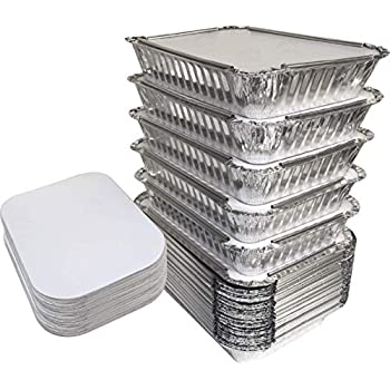Amazon Com 55 Pack 2 25 Lb Aluminum Pan Containers With