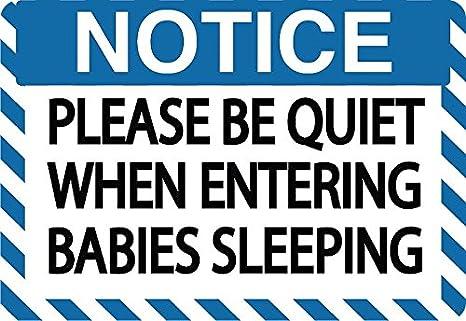 amazon com graphical warehouse notice please be quiet babies