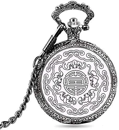 懐表表胸のペンダントレトロ女性男性クラムシェル古い学生土産非機械懐中時計、色名:1 (Color : 5)