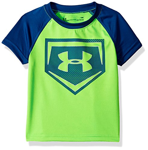 Under Armour Baby Boys Metallic Sync Homeplate Short Sleeve T-Shirt, Arena Green, ()