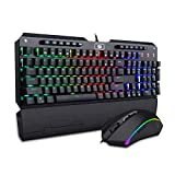 Redragon K555-RGB-BA Mechanical Gaming Keyboard and Mouse Combo Wired RGB LED Backlit, Macro