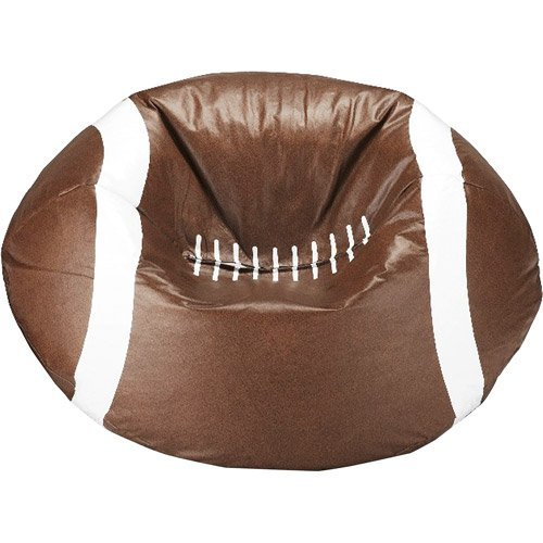 96'' Round Vinyl Bean Bag, Football by X Rocker