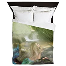 CafePress - Mermaid Cave - Queen Duvet Cover, Printed Comforter Cover, Unique Bedding, Luxe