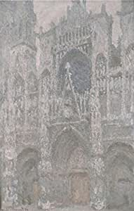 Cotton Canvas ,the Vivid Art Decorative Canvas Prints of oil painting 'Rouen Cathedral, Grey Weather, 1892-1894 By Claude Monet', 16x25 inch / 41x64 cm is best for Game Room artwork and Home decor and Gifts