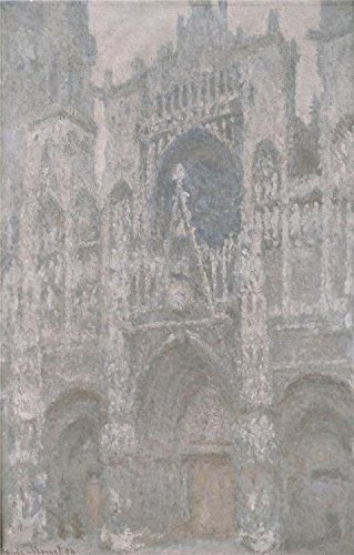 'Rouen Cathedral, Grey Weather, 1892-1894 By Claude Monet' O
