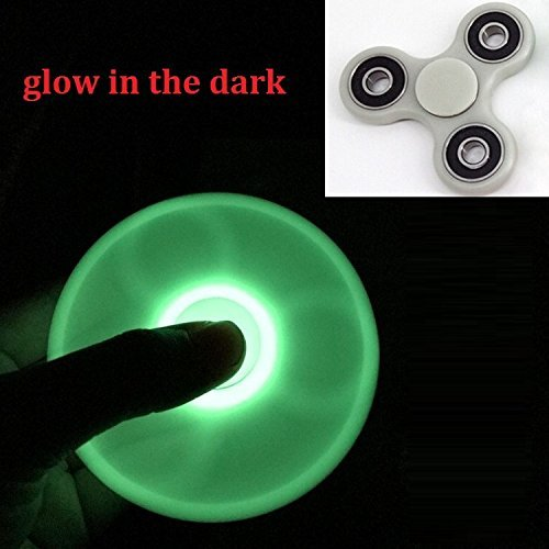 HOT Lighting White Fidget Toy ABS Plastic EDC Hand Spinner For Autism and ADHD Rotation Stress Relief Toys Glowing in the dark (Fluorescence)