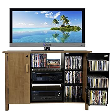 Venture Horizon Multi Media A V Cabinet- Oak