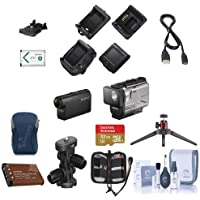 Sony HDR-AS50 Full HD Action Cam - Bundle With 32GB MicroSDHC U3 Card, Camera Case, Spare Battery, Cleaning Kit, Table Top Tripod, Sony Arm Kit Mount, Memory Wallle