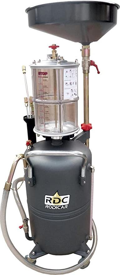Equipo RDC Rodicar recuperador de aceite usado. Especial para talleres de vehiculos.