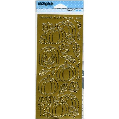 (Elizabeth Craft Designs Pumpkins Peel-Off Stickers, Gold)
