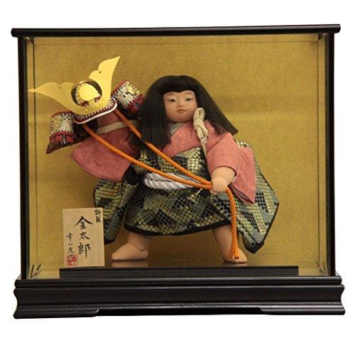 【五月人形】 ケース入り金太郎人形 特製10号 幅46cm 185to2060 幸一光 mk160 B076GXBJX2