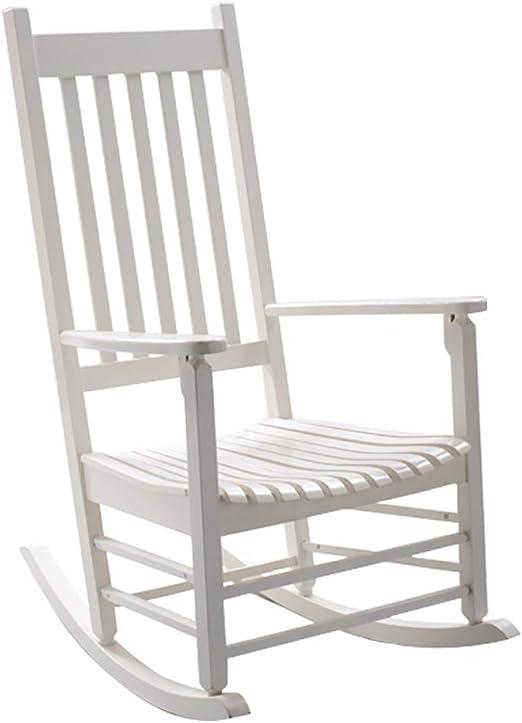 Madera de pino silla mecedora de enfermería Fotografía de