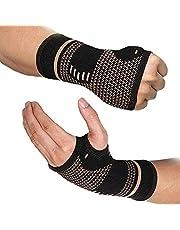 haiqingqin Koppar kompression hand och handled ärmar stöd, koppar ingjuten handledsstöd ledskydd smärtlindring skada återhämtning artrit handled stukningar och utmattning – kvinnor och män