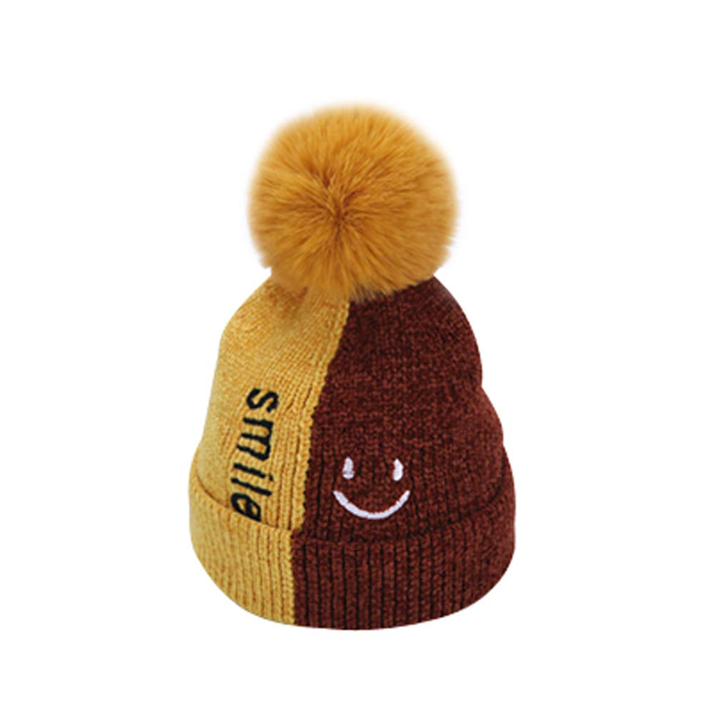 FCTREE Baby Winter Hat Toddler Warm Knitted Hat Boys Girls Bobble Hat Kids Beanie Cap