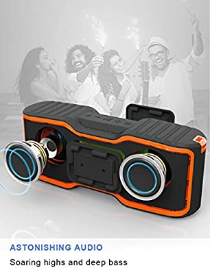 AOMAIS Sport II+ Bluetooth Speakers, Portable Wireless Speaker with Loud Sound, IPX7 Waterproof, 20 Hours Playtime, 99 ft Bluetooth Range & Built-in Mic, Perfect for Home Party, Beach,Shower