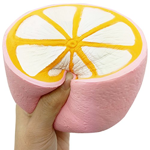 Bekker 4.3 Jumbo Slow Rising Squishies Cheeki Lemon Squishy Cream Scented Charms Kawaii Squishy Toys For Kids and Adults(Pink)