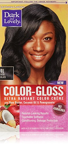 SoftSheen-Carson Dark and Lovely Color-Gloss Ultra Radiant Color Crème, Rich Black 01 -  9851761543