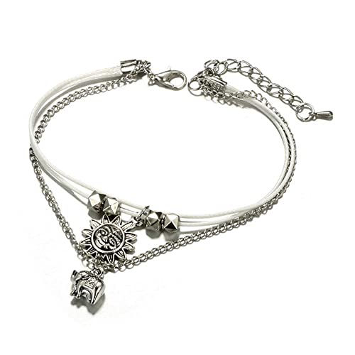 5cbf7ce0105 Amazon.com  HYLJ Sterling Silver Plated Multilayer Boho Sun and ...