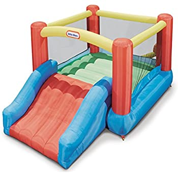 Amazon Com Little Tikes Shady Jump N Slide Bouncer Toys