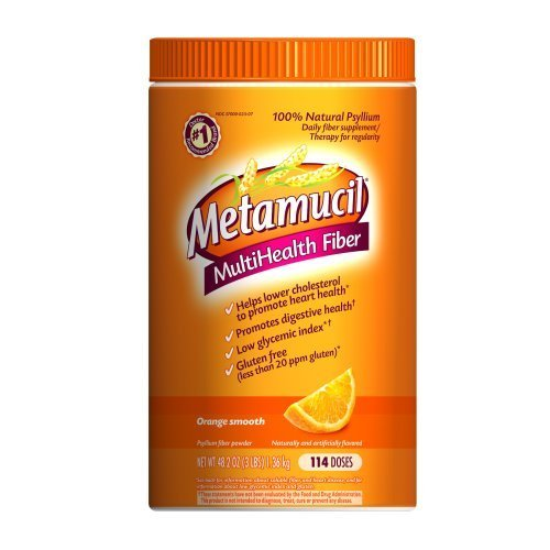 Metamucil Psyllium Fiber Supplement Orange Sugar Smooth Texture Powder 114 Doses 114DOS (Pack of 18)