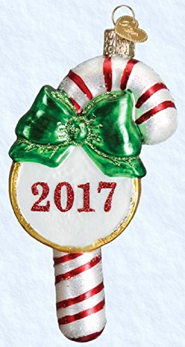 Old World Christmas 2017 Candy Cane Glass Blown Ornament