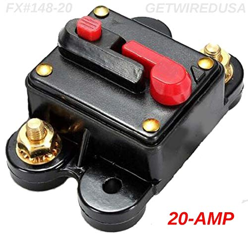 (20-AMP Circuit Breaker Waterproof Inline Fuse Manual Reset 12-Volt DC Automotive Or Marine 20A)