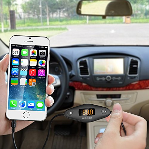 TECKNET F27 In Car Universal Wireless FM Transmitter with 3.5mm Audio Plug and USB Car Charger by TeckNet (Image #5)