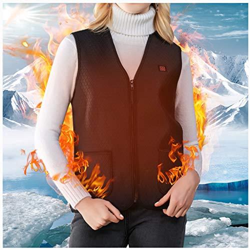 [해외]Heated Vest for Men Women Mosunx Machine Washable USB Charging Electric Heated Jacket for Winter Skiing Hiking Motorcycle Travel Fishing Golf (Black X-Large) / Heated Vest for Men Women, Mosunx Machine Washable USB Charging Electri...