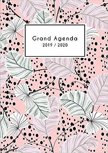 Grand Agenda 2019 2020: Agenda 18mois vertical de Juillet ...