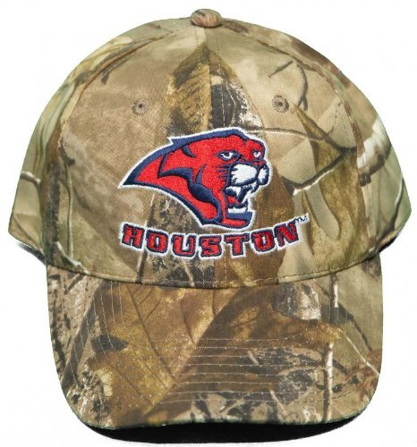 NCAA Signatures New! University of Houston Cougars Buckle Back Hat Embroidered Realtree Camo Cap]()