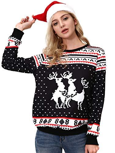 NORA TWIPS Unisex Ugly Christmas Sweatshirt Funny Design