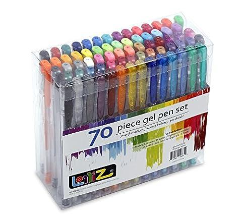 LolliZ 70 Gel Pens Tray Set, 70 Unique Color