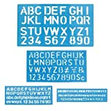 #2: 1 X Letter and Number Stencil Sets - Sizes 8, 10, 20, 30mm - Assorted Colors