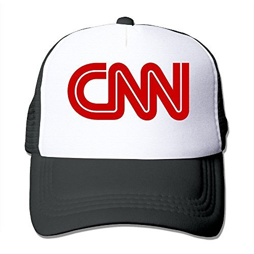 Retro CNN Logo Adult Nylon Adjustable Mesh Hat Baseball Cap Black One Size Fits Most