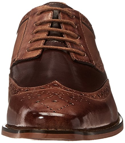 Stacy Adams Men's Tinsley-Wingtip Oxford, Tan/Brown, 10.5 M US