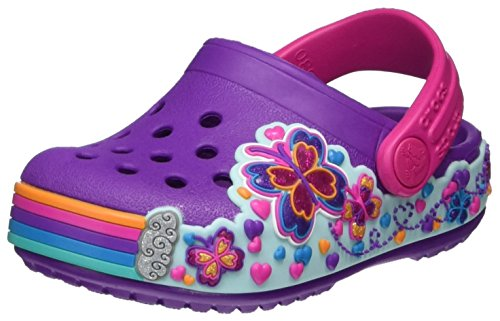Crocs Crocband Fun Lab Light-Up Clog, Purple, 4 M US Toddler (Infants For Crocs)