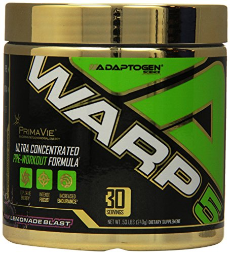 Adaptogen Science Warp-5, Gold Label Pre-Workout Supplement, Pink Lemonade Blast, 30 Servings
