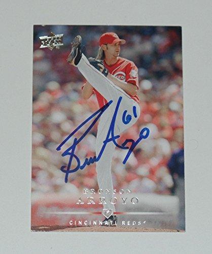 Bronson Arroyo Signed Auto'd 2008 Card #231 Cincinnati Re...