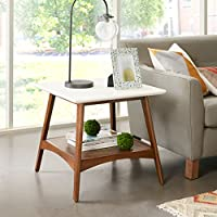 Parker End Table White/Pecan See below